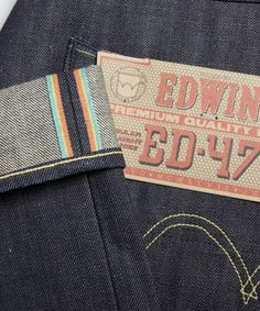 Wishlist Bram: Hij wil er wel honderd! Edwin ED-47 Rainbow Selvage Unwashed... Best jeans ever worth every penny