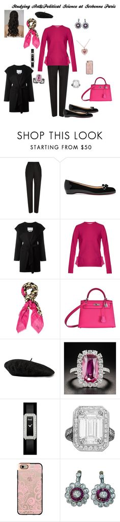 """When I Studied Art&Political Science at Sorbonne"" by hshprincessgebevieve ❤ liked on Polyvore featuring Balenciaga, Christian Louboutin, MaxMara, Valentino, Christian Dior, Hermès, Gucci, Casetify, Kobelli and contest"