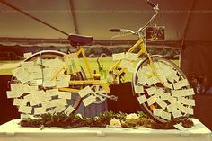 @Gretchen Duerksen  We should use your new pink bike for the escort cards display!