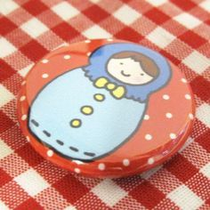 Little Russian Doll Badge Blue Style by sugarcookie on Etsy #etsy #pin #badge #russian