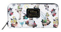 Loungefly Disney Tinker Bell Peter Pan Fairy Tattoo Flash Vegan Wallet – moodswingsonthenet