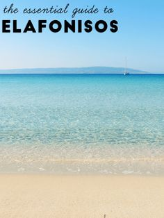 Welcome to a tiny island in the south of Greece with turquoise waters+delicious food. Ideal for relaxation. Here is your essential guide to Elafonisos! Paros, Santorini, Places In Greece, Greece Islands, Greece Travel, Greece Trip, Turquoise Water, Where To Go, Strand