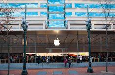 Apple Store in downtown Portland, Oregon.