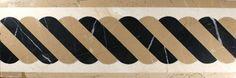 Striped marble water jet border available at www.atmarbledesign.com Floor Patterns, Marble Floor, Knife Block, Art Deco, Flooring, Deco Interiors, Design, Flower, Water