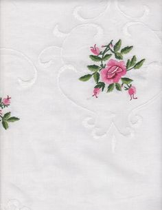 Hemstitched Rose Doilies and Runners | The Lace and Linens Co.