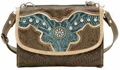 American West Texas Two Step Handbag & Wallet Combo - Sheplers