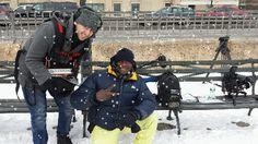 Yann Geoffrey, the Promotional Model King, PMK, on the Randy DOE movie shoot NY