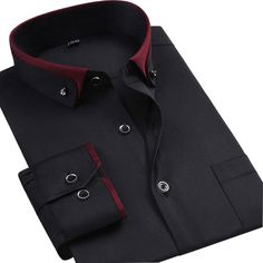 Man Plus Size Long Sleeve Solid Men Dress Formal Shirts Large White Social Shirts Mens Clothing Custom Wedding African Dresses Men, African Shirts, African Men Fashion, Mens Dress Outfits, Outfits Damen, Men Dress, Man Outfit, Mens Designer Shirts, Designer Clothes For Men
