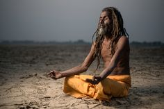 Balaji Baba on the bank of Ganges by Sergio Carbajo on 500px
