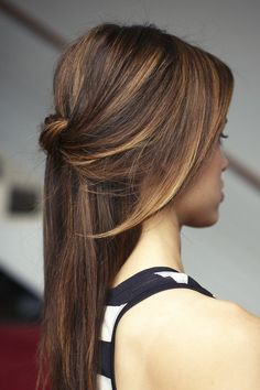 A round up of half up half down hairstyle ideas - love the blonde highlights - Lord & Cliff - Lordandcliff.us