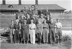 Lottien kurssiryhmä H:linnan eläinsairaalassa.  Hämeenlinna 1941.07.23. SA-kuva.