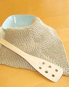 Easy Mitered Knit Dishcloth  knit pattern