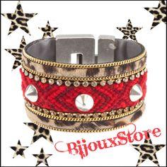 Leopard Print and Sexy Red - Bibi Bijoux bracelet www.bijouxstore.nl