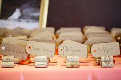 Wine corks as Escort Cards