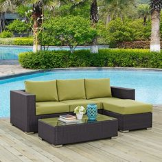Modway Furniture Convene 3 Piece Outdoor Patio Sofa Set in Espresso Peridot Outdoor Sofa, Outdoor Living, Outdoor Decor, Modern Furniture, Outdoor Furniture Sets, Sitting Arrangement, 3 Piece Sofa, Coffee Table Dimensions, Star Wars