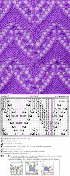 Ажур вязание вязание бесплатные образцы