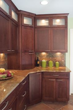 Award Winning Kitchen Remodel In Marietta: Look at all of this customized storage!   This is how to make a small kitchen with dark tones & cabinets to the ceiling without feeling closed in!  http://www.akatlanta.com/Award-Winning-Kitchen-Remodel-Marietta#