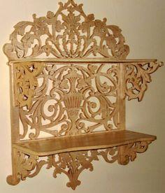 Renaissance shelf, scroll saw fretwork pattern