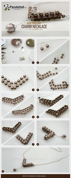 Jewelry Making Tutorial--Make Your Own Charm Necklace with Pearls and Seed Beads | PandaHall Beads Jewelry Blog