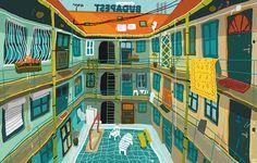 'Budapest I.' by Zsolt Vidak - Fine Arts from Hungary