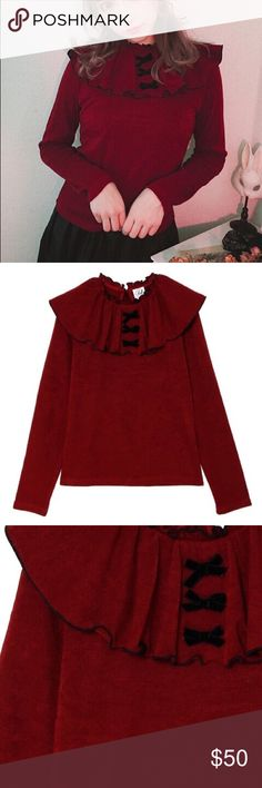 Ank rouge wine red long sleeves top New without tag ank rouge Tops