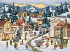 Dowdle Folk Art, Christmas Village