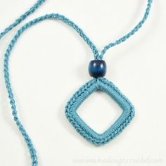 Simply Easy Crochet Necklace ~ Oombawka Design
