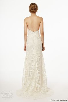 francesca miranda wedding dress fall 2015 strapless sweetheart neckline corset bodice bridal sheath gown skirt etna back