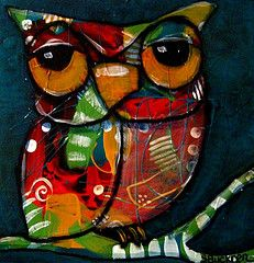 Owl art by Suzan Buckner
