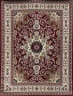 Burgundy Isfahan Oriental Affordable Rugs Under 100 Bargain Area