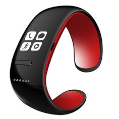 L12s Pro Smart Bracelet Bluetooth V3.0 Watch Music Rec Massage Time SMS Calls Remote Camera, RED in Sport Watches