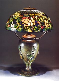 A Fine Pansy Leaded Glass and Turtleback Tile Bronze Table Lamp Stained Glass Lamps, Leaded Glass, Studio Lamp, Lights Please, Tiffany Glass, Glass Design, Pansies, Glass Art, Table Lamp