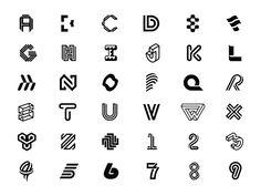 36 Days Full Recap designed by The Falcon King. Typo Logo, Logo Branding, Branding Design, Inspiration Logo Design, Graphic Design Tips, Logo Sketch, Logo Minimalista, Typography Alphabet, Fashion Logo Design