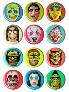 Image of Vintage Mask Buttons