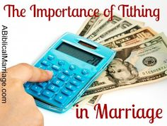 Tithing In Marriage - A Biblical Marriage Ways To Save Money, Money Tips, Money Saving Tips, How To Make Money, Cost Saving, Biblical Marriage, Marriage Advice, Marketing Budget, Budgeting Money
