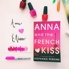 Anna and the French Kiss book cover-inspired DIY prints // Novels and Nail Polish