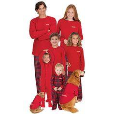 cfa3932ccb Stewart Plaid Pajamas - SkyMall Family Pajama Sets