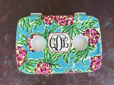 Spike the punch lilly Pulitzer painted cooler with monogram