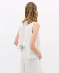 TOP WITH CROSSOVER BACK - Shirts - WOMAN | ZARA United States