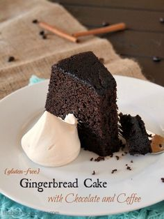 Gluten Free Gingerbread Chocolate Coffee Cake from The Baking Beauties