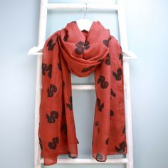 Squirrel Scarf in Red for £12.00 at www.lisaangel.co.uk