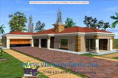 Overall Dimensions- x mBathrooms- 3 Car GarageArea- Square meters Building Costs, Building Plans, Small House Design, All Design, Flat Tummy Tips, Round House Plans, House Plans South Africa, Allah Names, Diy Home Decor Projects