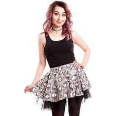 Cupcake Cult Kamu Mini Skirt (Grey) ($33) ❤ liked on Polyvore featuring skirts, mini skirts, short skirts, grey mini skirt, gray skirt, gray mini skirt and short mini skirts