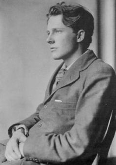 Rupert Brooke (1887–1915) was an English poet known for his idealistic war sonnets written during WWI.