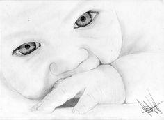 dibujo de un niño hecho a lapiz
