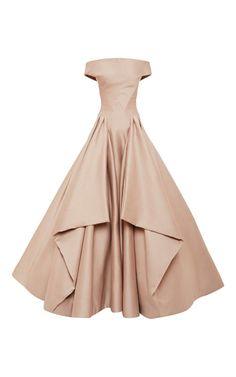 Blush Ottoman Gown by Zac Posen - Moda Operandi
