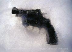 Gun in ice