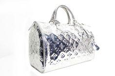 Authentic Louis Vuitton Monogram Silver Mirror Speedy 30 Bag