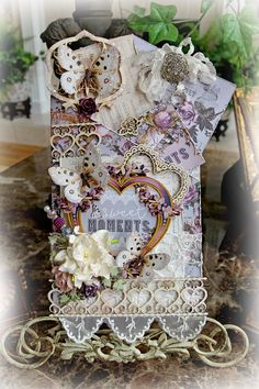 Don't you just love the new Prima Lavender Collection!! A Reneabouquets Design Team Loaded Envelope Pocket Journal by Artist Renea Harrison. Created with products from Reneabouquets: http://www.Reneabouquets.com