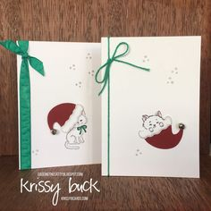 Stampin' Up Pretty Kitty and Jolly Hat Builder Punch Bundle for CASE-ing The Catty challenge #ctc107